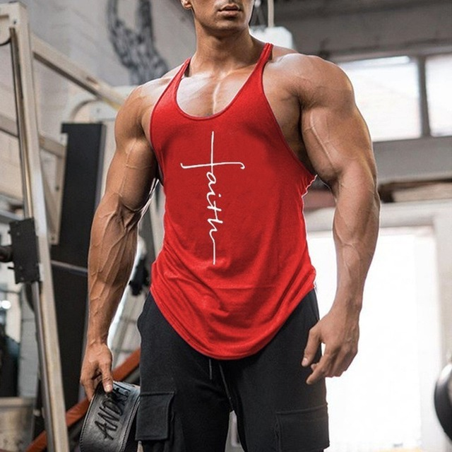 Gym Tank Top Men Fitness Clothing Mens Bodybuilding Tank Tops Summer Gym Clothing for Male Sleeveless Vest Shirts Plus Size 4
