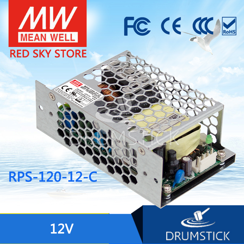 nice MEAN WELL 2Pack RPS-120-12-C 12V 10A meanwell RPS-120 12V 120W Single Output Green Medical Type