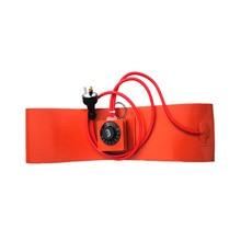 240 в 150 Вт 100*1200*1,5 мм, силиконовая Резина нагреватель для барабанного набора термостата на прокладке 1000 мм свинцовый провод