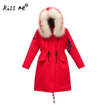Solid Waist Control Winter Down Coat Women Casual Hooded Warm Coat Mid-Long Loose Cotton Clothing Windproof Thermal Down Jacket