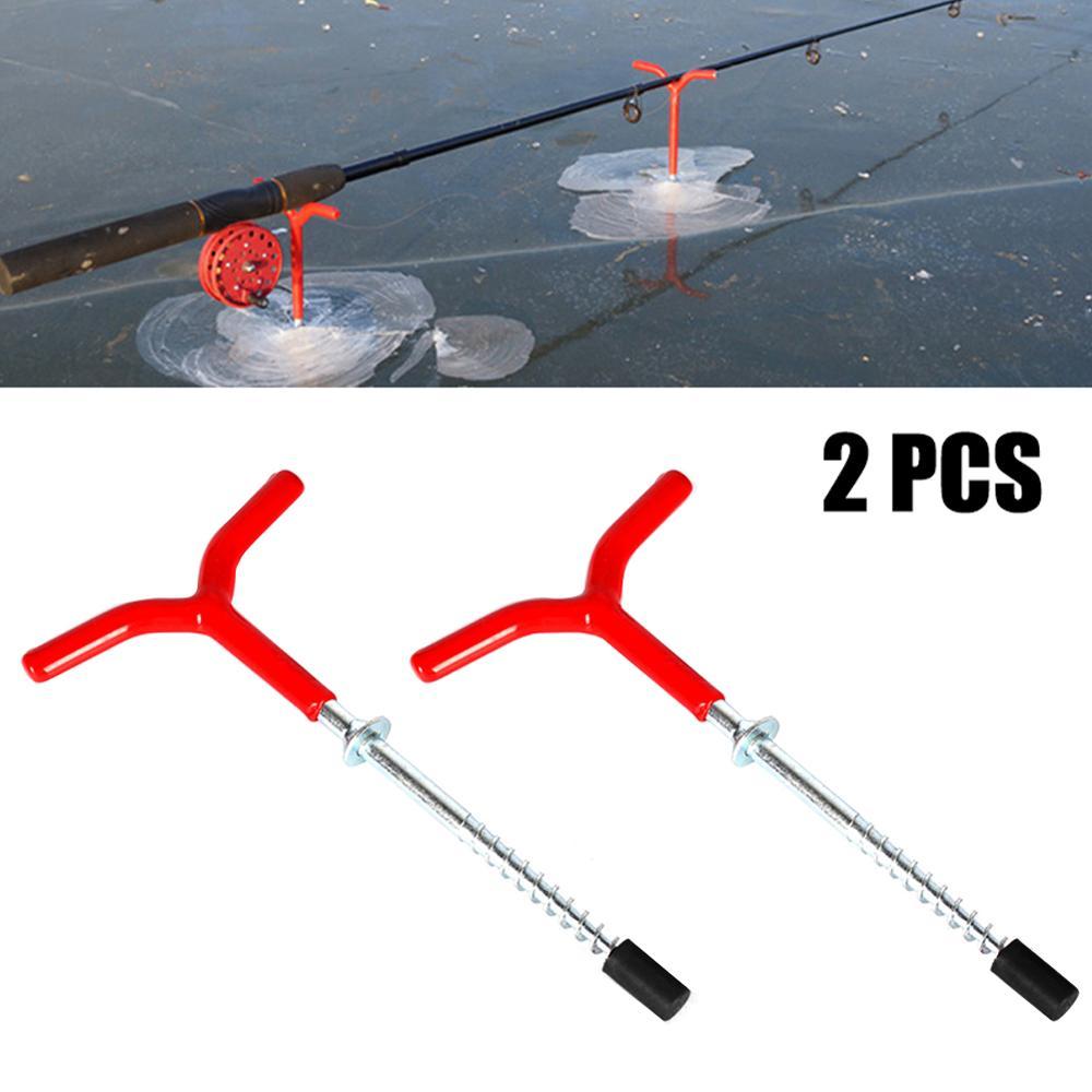 Y форма нержавеющая сталь палатка гвоздь колья лед рыбалка винт удочка подставка стойка шест колышки для улицы кемпинга