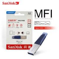 Flash USB SanDisk Drive128GB 64GB OTG USB3.0 SDIX40N Stick USB pendrive Pen Drive 256GB relâmpago para iPhone iPad iPod DA APPLE MFi