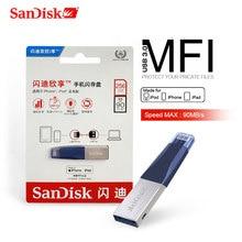 Thẻ Nhớ SanDisk USB Drive128GB 64GB OTG USB3.0 SDIX40N Bút 256GB Lightning USB Pendrive Cho iPhone iPad IPod Của APPLE MFi