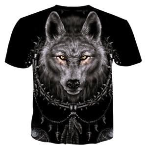 Image 3 - Ferocious Animal Wolf and Indians T Shirt Men Fashion Clothing 3D Print Men/Women Harajuku Style Streetwear Tops T82