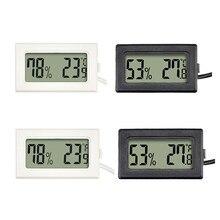 Mini sensor de temperatura interno do termômetro de digitas do lcd, com higrômetro, usado para o termohigrômetro da caixa do animal de estimação 1pc