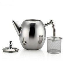 1Л чайник для кофе из нержавеющей стали, чайник для кофе, чайник для холодной воды с фильтром, инструменты для домашнего чая PAK55