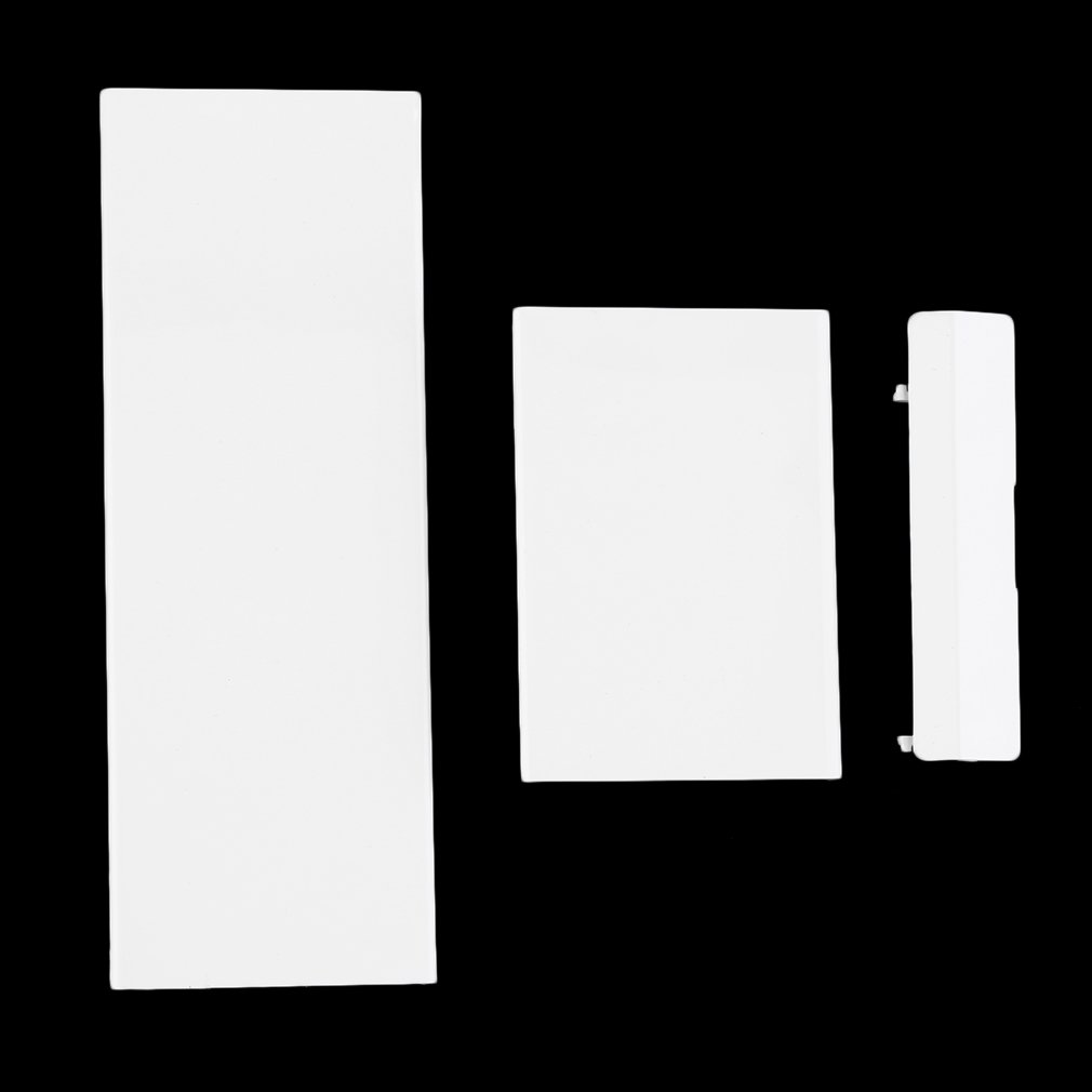 Replacement Memory Card Door Slot Cover Lid Memeory Card Cover 3 Parts Door Covers For Wii Console Black White