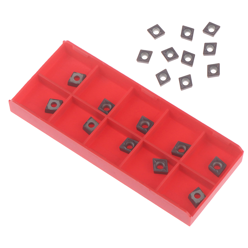 10PCS CCMT060204 Carbide Inserts CCMT0602 For Lathe Turning Tool Holders Hot