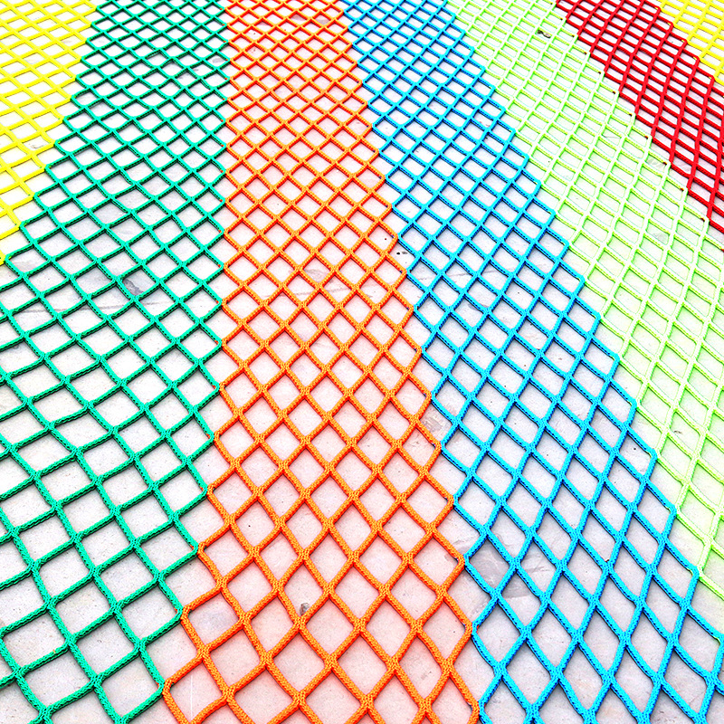 Children Expand Rainbow Net Indoors And Outdoors Topdata KID'S Playground Rainbow Tree Color Safety Net Falling Prevention Net