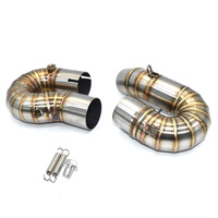 51mm Motorcycle modification exhaust pipe for cbr 1000rr CBR1000RR middle pipe 2008 2016 stainless steel exhaust