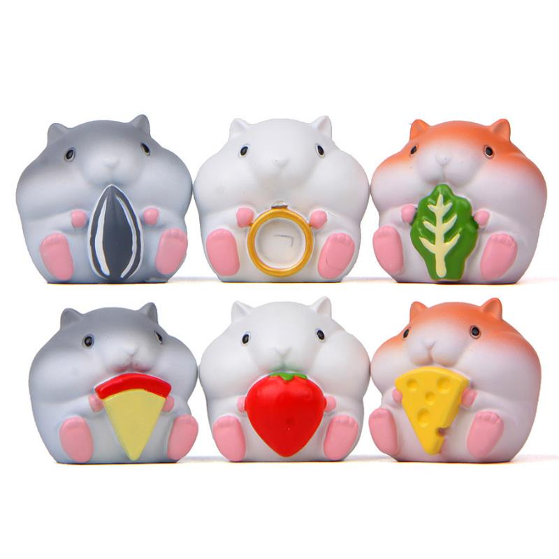 1 Pc Lovely cartoon Animal Action Figure Toy Cartoon cuisine hamster Dolls action figures toys Model for kids toys gift-0