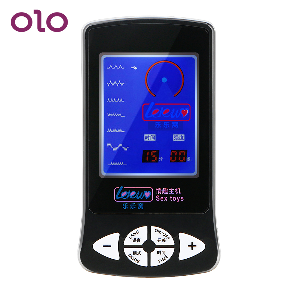 OLO Electric Shock Host Therapy Massager Multi-function Sex Toys For Women Medical Themed Toys Electro Stimulation