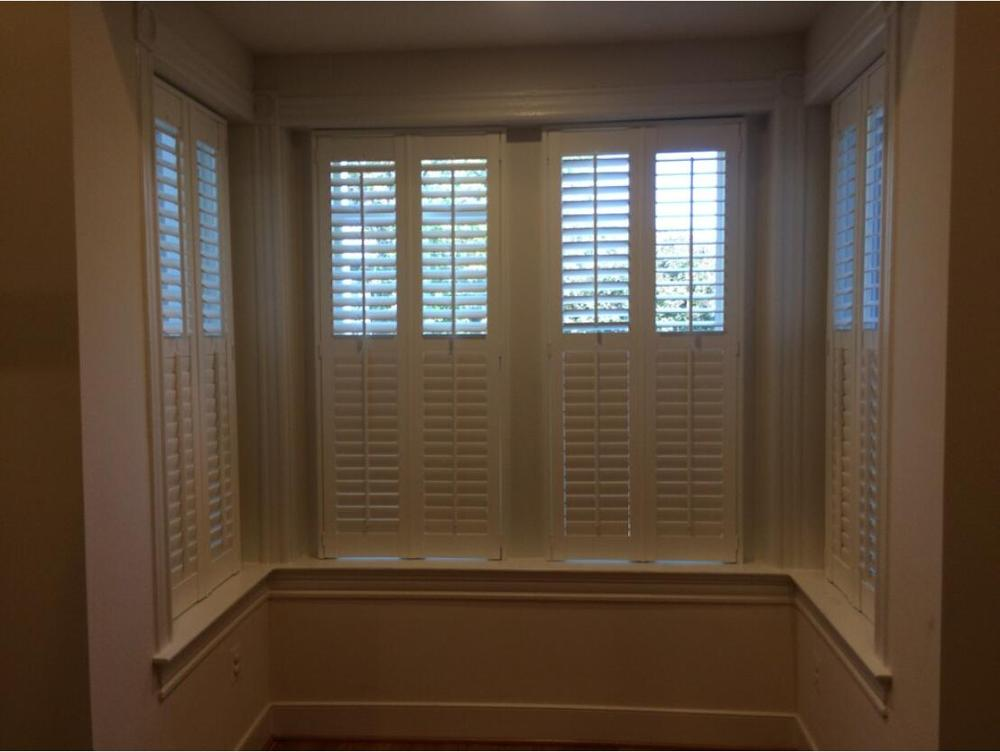 Custom Basswood Plantation Shutters Wooden Blinds Solid Wood Shutter Louvers PS230