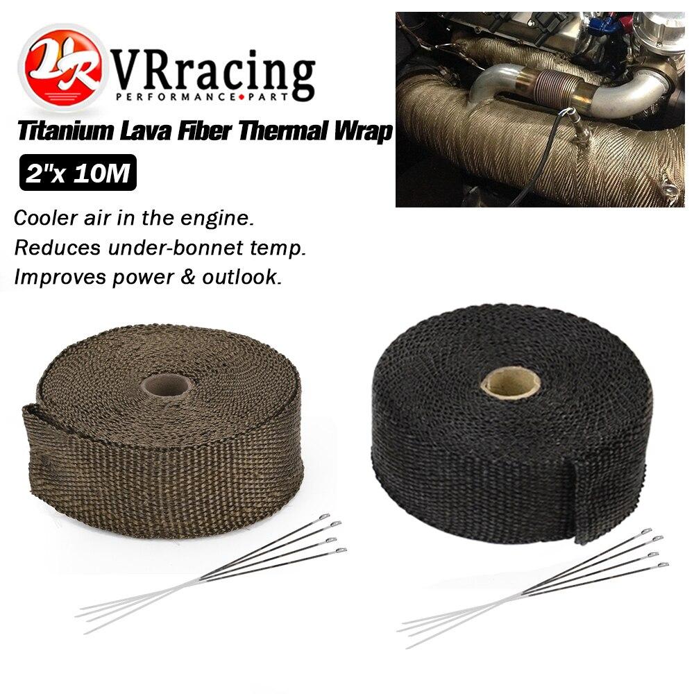 Lava Exhaust//Header Pipe HeatShield Wrap Car//Motorcycle /& 5 Steel Ties