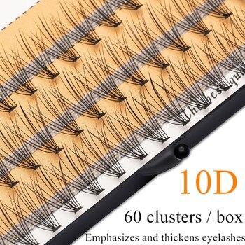 1 box of grafted eyelashes 3D eyelash extension 10D 0.07 / 0.1 thick personal eyelashes false eyelashes eye makeup