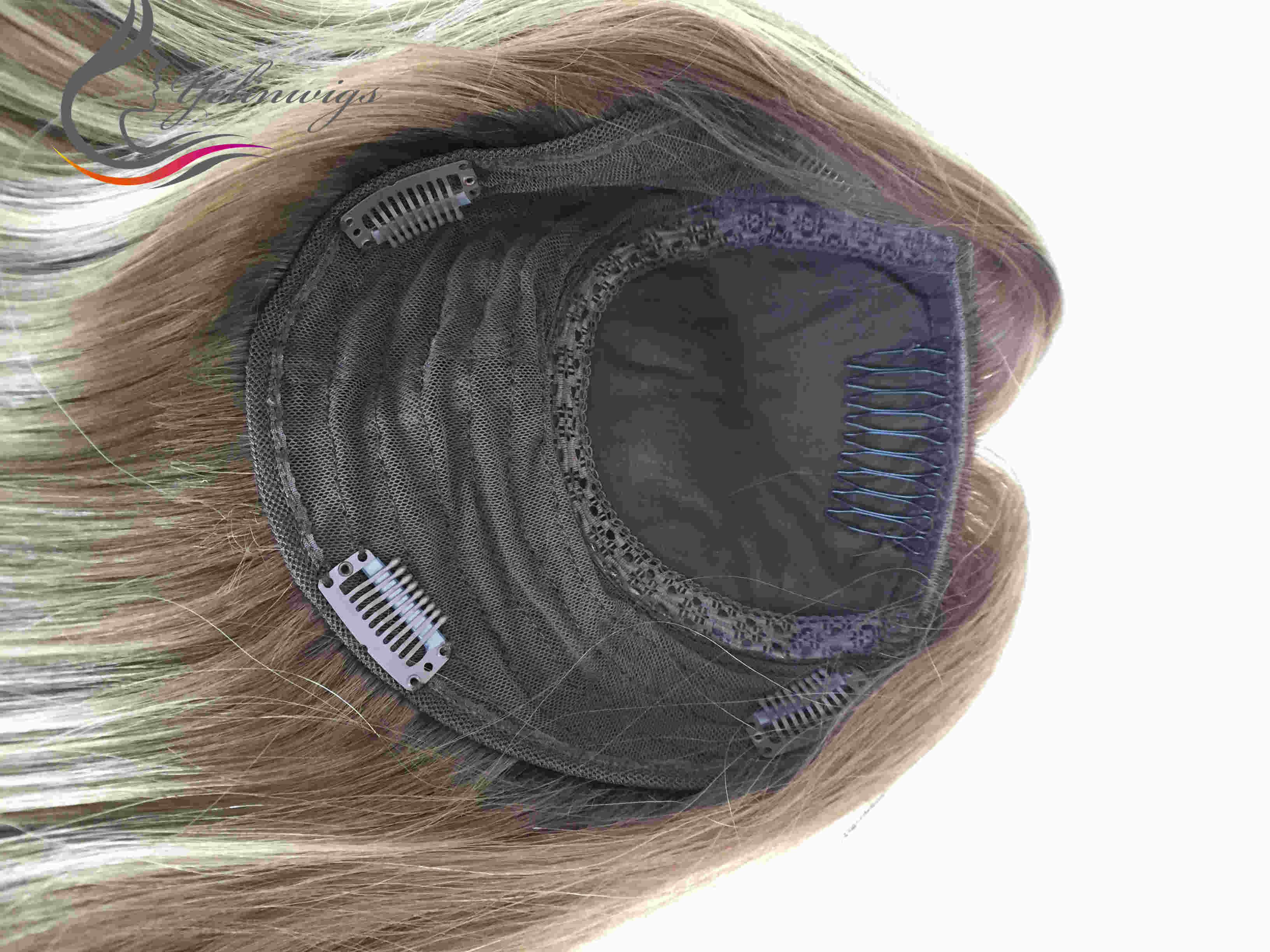 Yelin perucas loira cor judaica topper cabelo