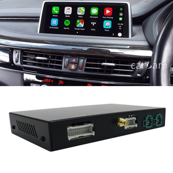 X6 E71 E72 OEM radio screen CIC system add-on wireless carplay function decoder android auto activate box for car multimedia dvd image