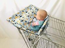 Чехол на детское сиденье для супермаркета и корзины защита от