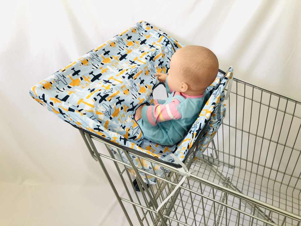 Infant Supermarket Grocery Shopping Cart Cover Baby Seat Pad Anti-dirty Cover Kids Traveling Seat Cushion No Dirty  Portable
