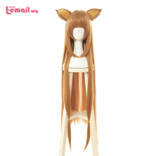 L email wig Tate no Yuusha no Nariagari Raphtalia Cosplay Wigs Long Brown Cosplay Wig with Ears Heat Resistant Synthetic Hair