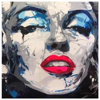 Hand Painted Francoise Nielly portrait canvas painting Marilyn Monroe Face painting wall art pictures for living room home decor