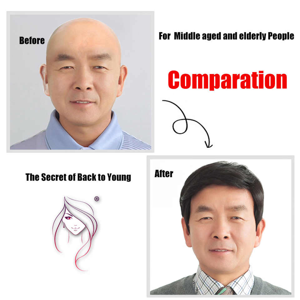 Allaosify Thin Skin Hair Toupee Men Natural Looking 100% European Hair Lace Replacement System Male Wig for Man Hombre Sythetic