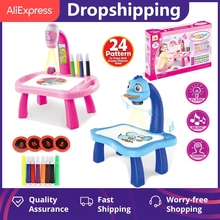 Toys Drawing-Table Kids Children Desk-Arts Toy-Board Crafts Projector Painting Educational-Learning-Toy