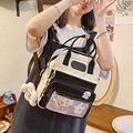 New cute candy color mini backpack Multifunctional kawaii women's shoulder bag Contrasting color schoolbags for female students