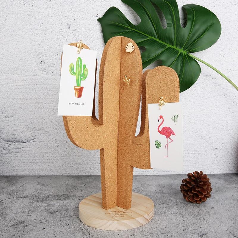 Cork Wall Board Cactus Message Boards Memo Notes Bulletin Board Decoration Office Desk Organizer Thick Thumb Tack Accessories