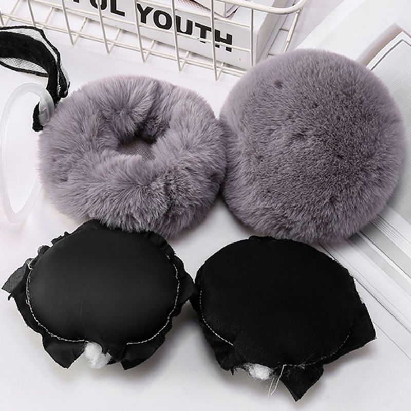 Fashion Women Winter Foldable Earmuffs Student Simple Versatile Cute Warm Earlap LX9E