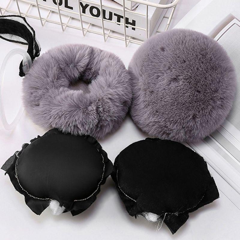 Fashion Women Winter Foldable Earmuffs Student Simple Versatile Cute Warm Earlap LX9E