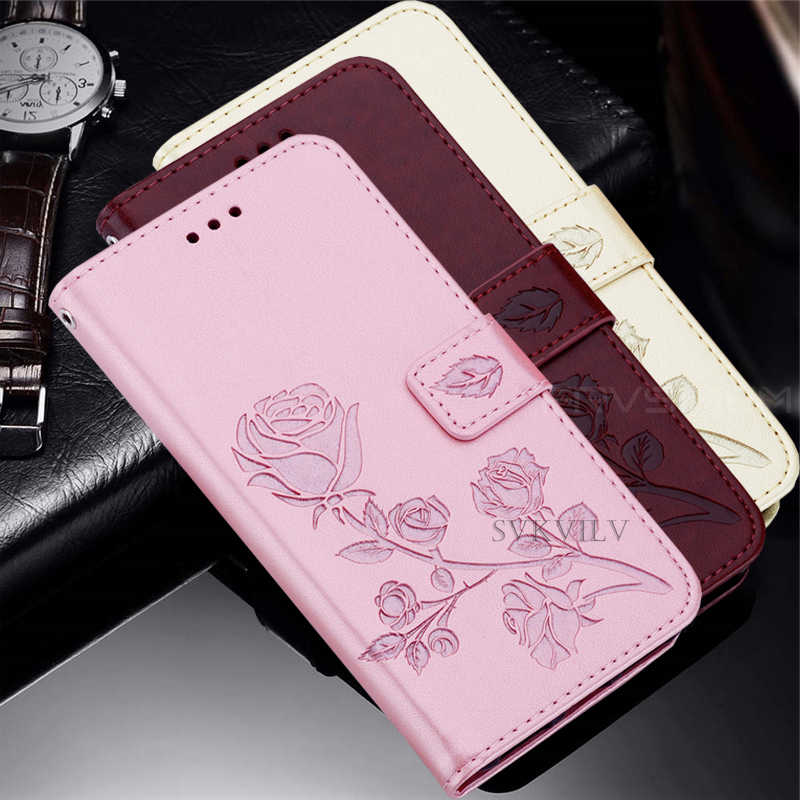 Leather Wallet Case For Samsung Galaxy S6 edge S7 S10 S8 S9 Plus A50 A50S A40 A30 A20 A10 A70 A20E 2019 Flip Soft Flower Coque
