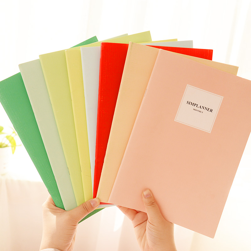 2020 New Candy Color Solid Color B5 Notebook Notepad Creativity Journal Supply School Student Book Girl Gifts Office Stationery