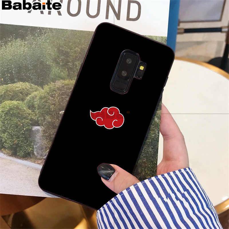Babaite נארוטו AKATSUKI שחור רך פגז טלפון כיסוי סמסונג S9 S9 בתוספת S5 S6 S6edge S6plus S7 S7edge S8 S8plus כיסוי M10 20