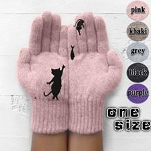 Rękawiczki damskie zimowe śliczne pluszowe ciepłe rękawiczki jeździeckie rękawiczki damskie damskie rękawiczki damskie zimowe rękawiczki zimowe rękawiczki damskie tanie tanio Dla dorosłych CN (pochodzenie) Unisex Stair cloth + silicone Stałe Nadgarstek Moda Gloves
