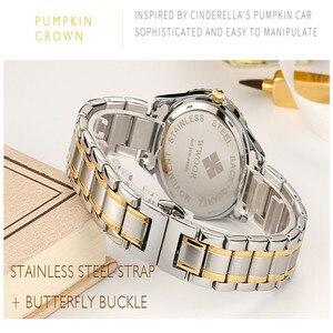 Image 2 - WWOOR 새로운 골드 여성 팔찌 시계 방수 숙녀 시계 스테인레스 스틸 캐주얼 드레스 여성 쿼츠 시계 여성 Reloj Mujer