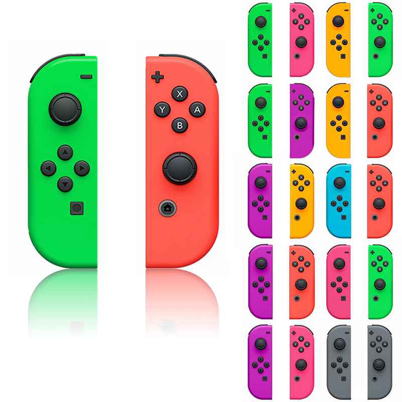 1 Pair For Nitendo Switch NS JoyCon Joy Con Controller Housing Shell Case Green Purple Pink Cover For Switch Handle Shell