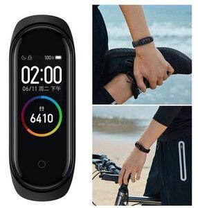 Image 2 - オリジナルxiaomi miバンド4スマート腕時計amoledカラー画面heartrateフィットネススポーツ50ATM防水スマートブレスレットのbluetooth 5.0
