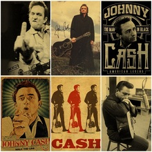 Johnny cash retro classic poster bar home decor painting johnny cash the great lost performance