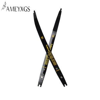 1 par de arco recurvo de tiro con arco, con los brazos insertados, longitud del arco H25 20Ibs, tirar de los accesorios de tiro de caza