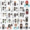 KDL801 802 803 804 806 807 Naruto anime bricks Sasuke Sakura building mini blocks action toy figures Assembly toys birthday gift