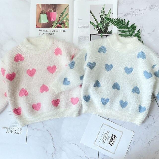 Фото новый свитер для маленьких девочек на осень и зиму детская одежда