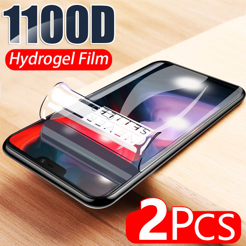 Гидрогелевая мягкая пленка 1100D для Oneplus 8 Pro 7 Lite 7T 6 6T 5 5T 8T, защитная пленка для экрана, не стекло, 2 шт.