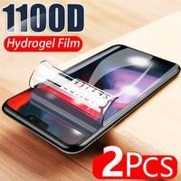 Película suave de hidrogel 1100D para Oneplus 8 Pro, 7 Lite, 7T, 6, 6T, 5, 5T, 8T, Protector de pantalla, película protectora completa, no Cristal, 2 uds.