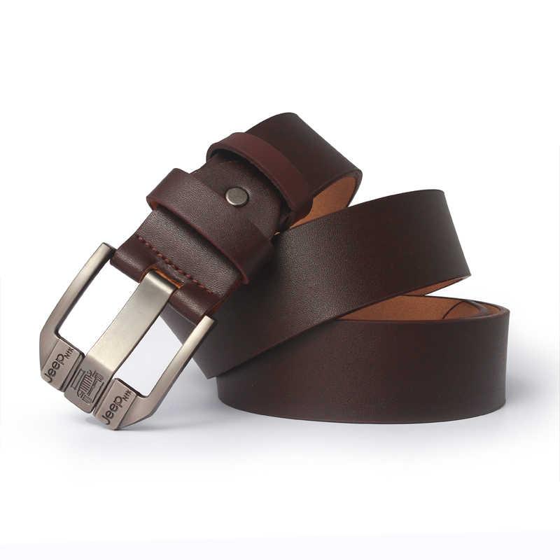 Genuino degli uomini della cinghia di cuoio cinture di marca degli uomini di lusso della cinghia maschio della cinghia cinture per gli uomini di moda pin fibbia per i jeans
