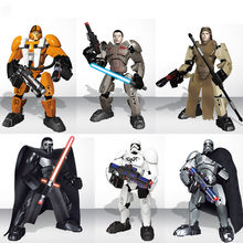 Star Guerra Edificabile Action Figure Darth Vader Kylo Ren Jango Boba Fett Poe Rey Finn Building Block Toy Compatibile con legoelys(China)
