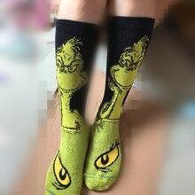 Оригинальные мужские зимние носки Dr Seuss How the Grinch, рождественские носки для серфинга, компрессионные модные камуфляжные носки kanye