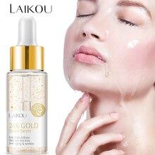 LAIKOU 24K Snail Facial Essence Gold Aluminum Foil Firming Anti-Wrinkle Anti-Aging Skin Hyaluronic Acid Moisturizing Repair