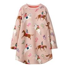 Little maven Unicorn Baby Girls Sweater Dresses Princess Costume Cotton Dress Kids Clothes Toddler Girl Dress Children Vestido