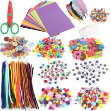 Art and Craft Kit Supplies Include Pipe Cleaners Feather and Felt  Foam Balls fo R9UE одежда для йоги art and craft s258
